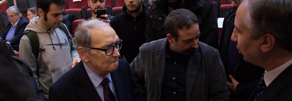 Il premio Oscar Ennio Morricone