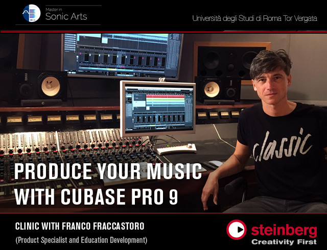 Evento Steinberg Cubase Pro 9 - Master in Sonic Arts
